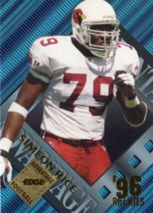 Rice burst onto the scene with a breakout campaign that saw him amass 12.5 sacks en route to NFL AP Defensive Rookie of the Year in 96'