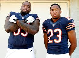All 8 of Chicago's 2014 Draft picks found their way onto the 53 man roster headed by Corner Kyle Fuller (on the right) and Defensive Tackle Ego Ferguson...