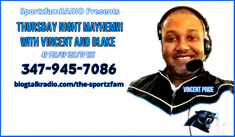 "Vincent Pride brings weekly ""MAYHEM"" every Thursday Night! Be sure to call in and join the fun LIVE!"